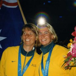 Jenny Armstrong and Belinda Stowell created history when they became the first Australian women to win an Olympic sailing medal, winning gold in the 470 class at the Sydney 2000 Olympics Games. In doing so, they also broke Australia's 28-year sailing gold medal drought