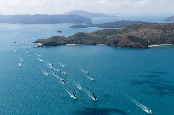 Sailing at Hamilton Island race week courtesy Andrea Francolini