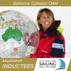 Adrienne Cahalan, OAM, is world-renowned for her extensive and successful career as a champion sailor and navigator.